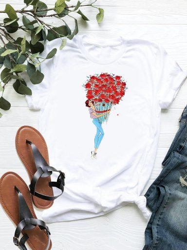 T-shirt biały Milion szkarłatnych róż ZUZU