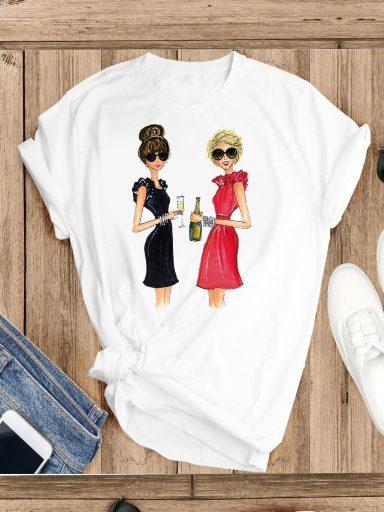 T-shirt biały Przyjaciółki Katarina Ivanenko