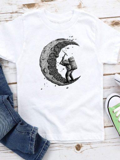 T-shirt biały dla dzieci Stara się Love&Live