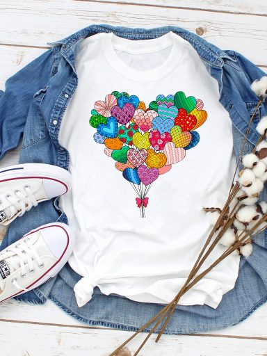 T-shirt biały Takie inne serce (color) Love&Live