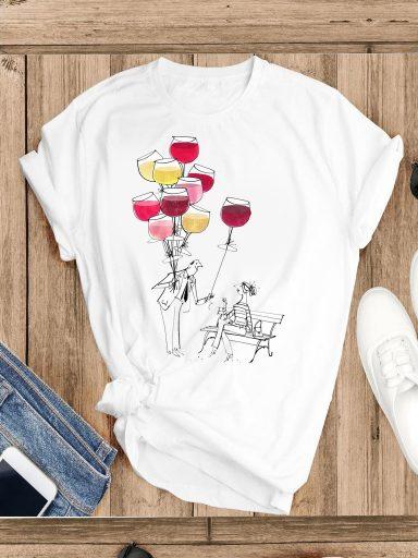 T-shirt biały Częstuj się Katarina Ivanenko