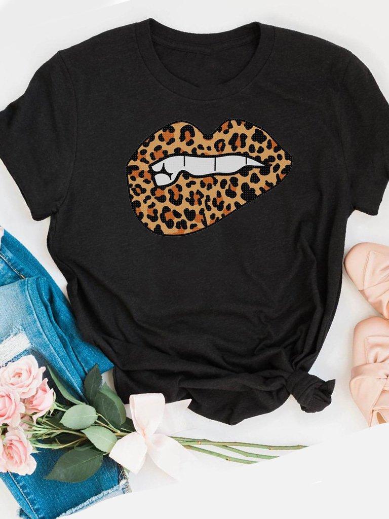 T-shirt czarny Wild kiss Love&Live