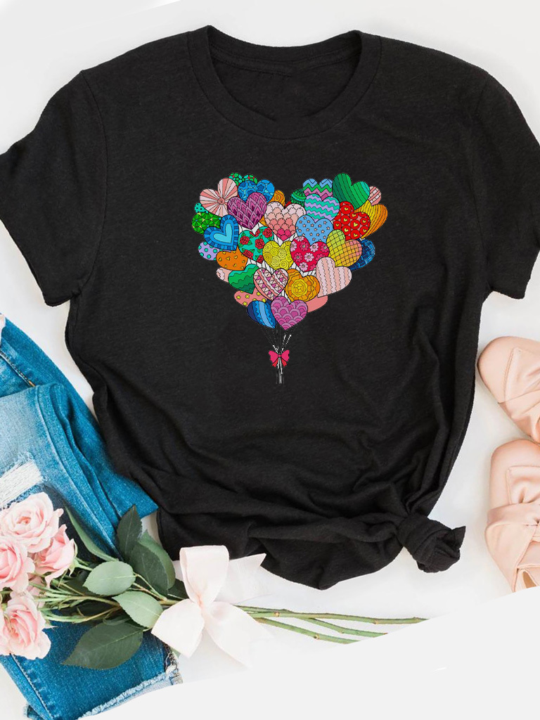 T-shirt czarny Takie inne serce (color) Love&Live