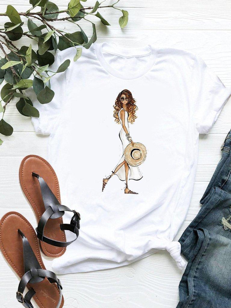 T-shirt biały Kapelusz ZUZU