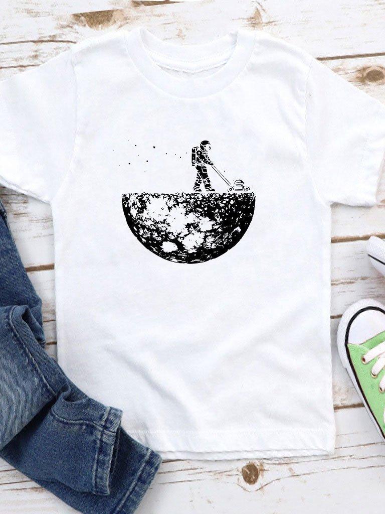 T-shirt biały dla dzieci Kosiarka Love&Live