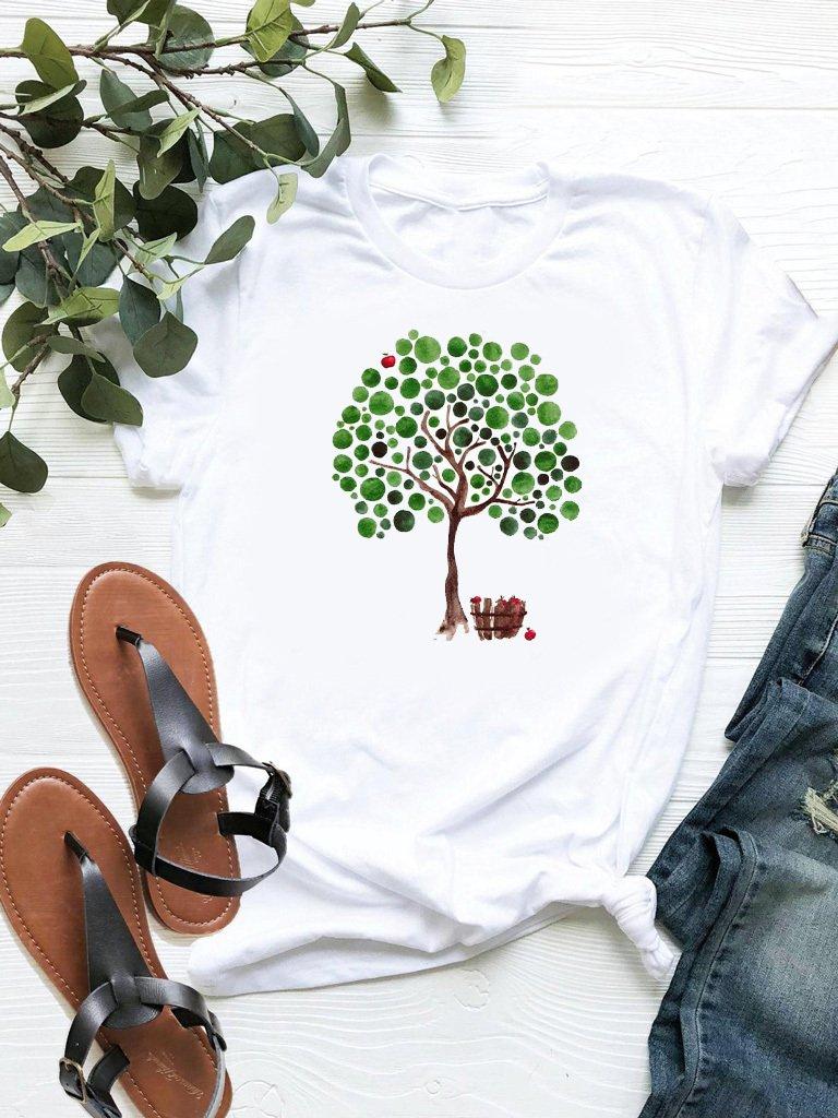 T-shirt biały Apple ZUZU