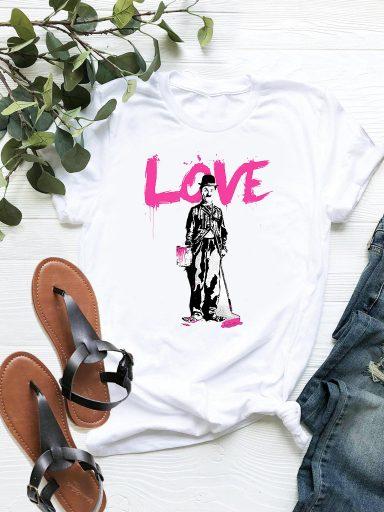 T-shirt biały Chaplin ZUZU