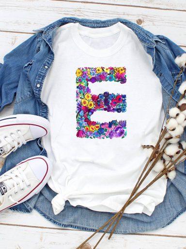 T-shirt biały E Love&Live
