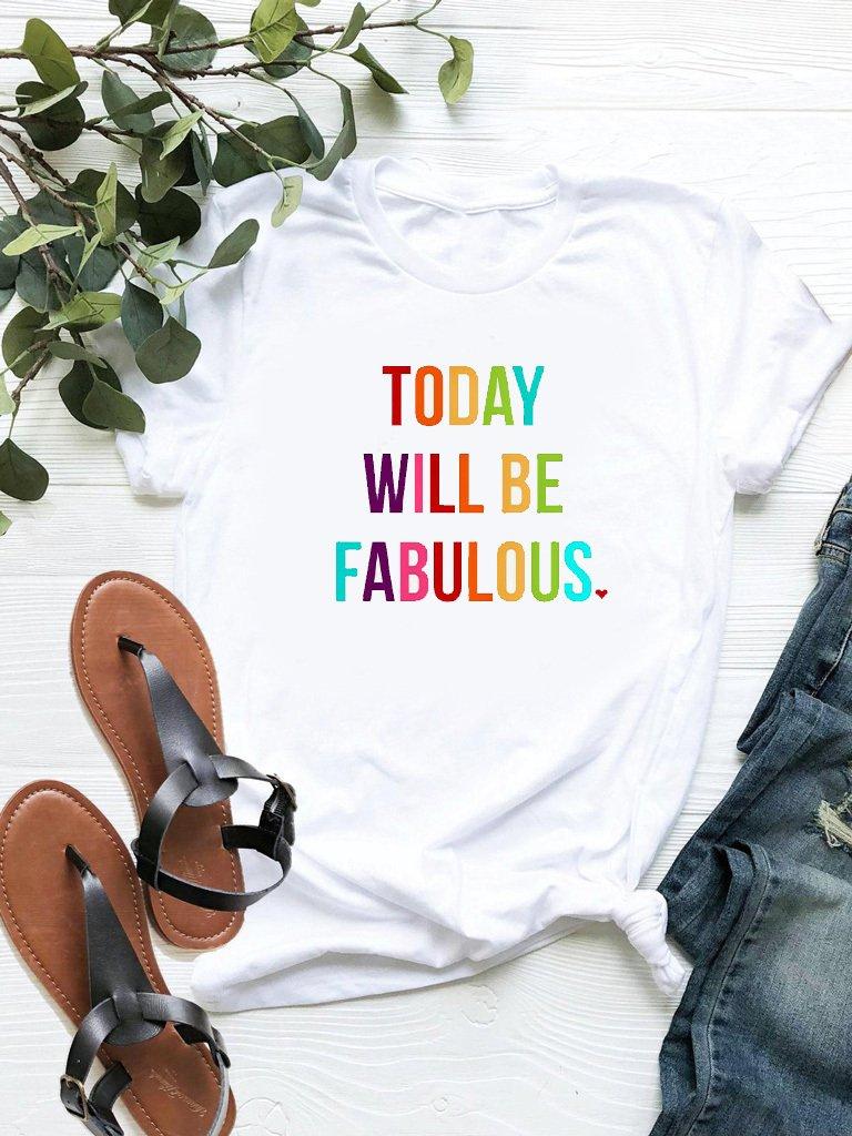 T-shirt biały Fabulous ZUZU