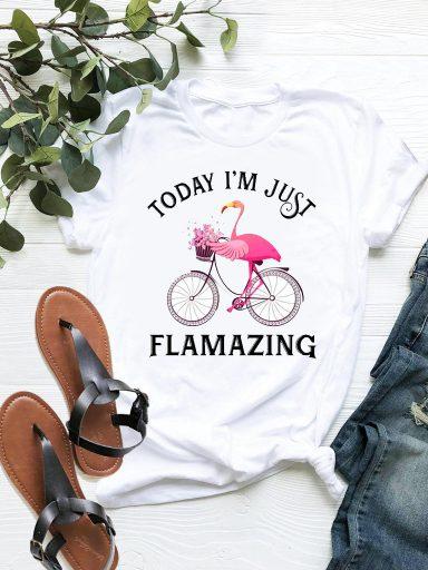 T-shirt biały Flamazing ZUZU