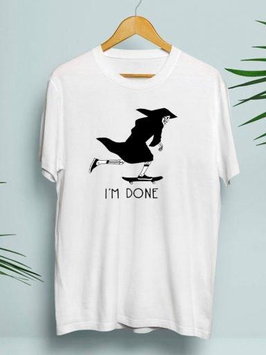 T-shirt męski biały I'm done Zuzu