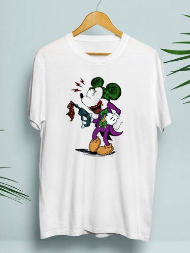 T-shirt męski biały Joker Mouse-2 Zuzu