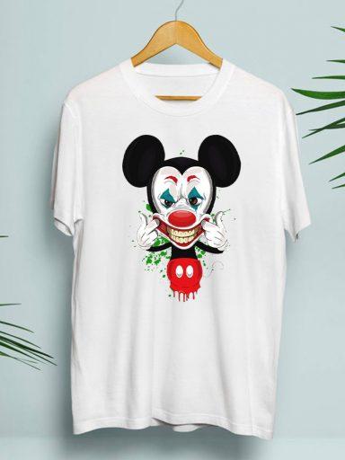 T-shirt męski biały Joker Mouse Zuzu