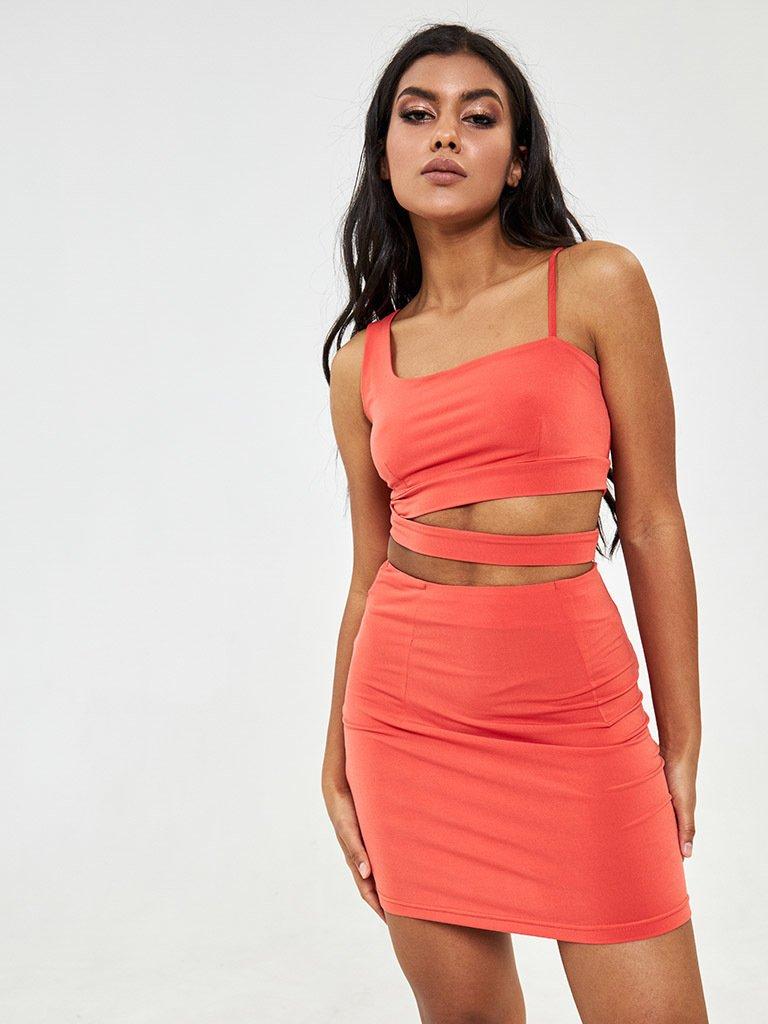 Spódnica mini w kolorze marchewkowym Katarina Ivanenko