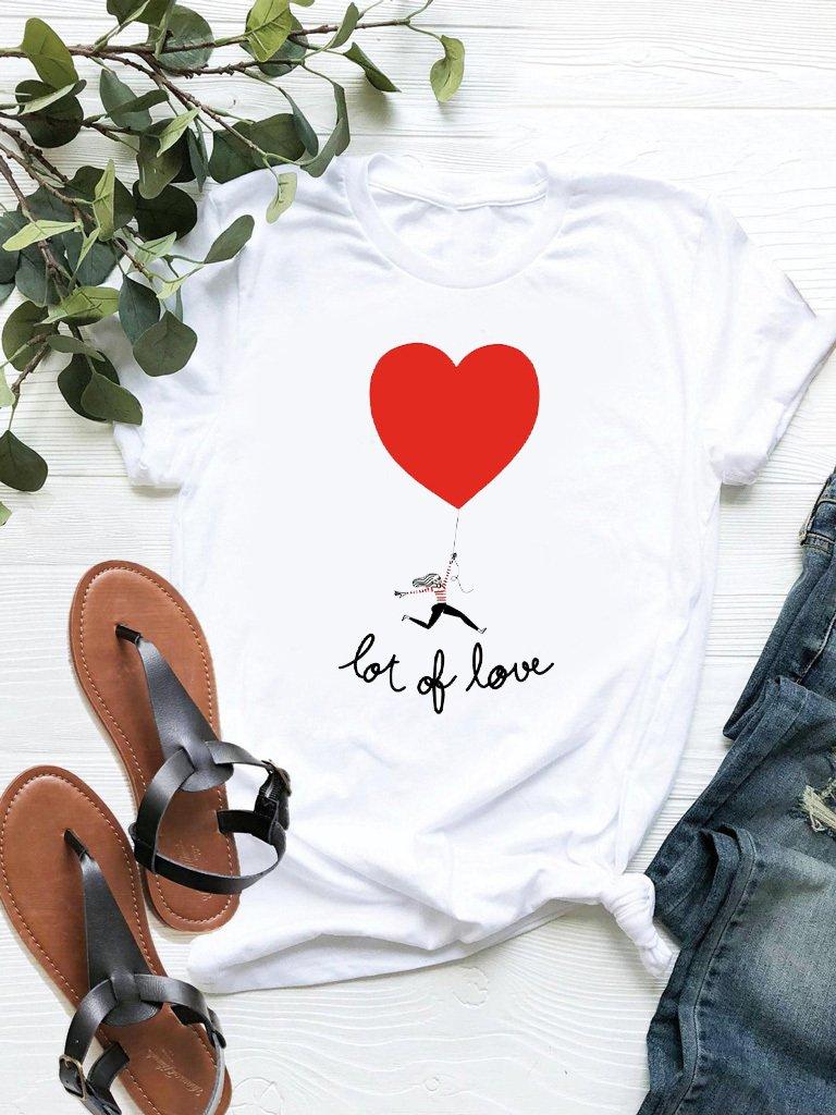 T-shirt biały Lot of love ZUZU