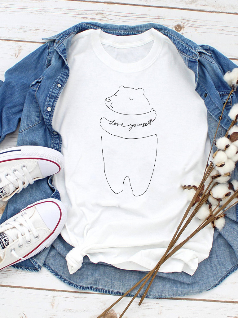 T-shirt biały Love yourself Love&Live