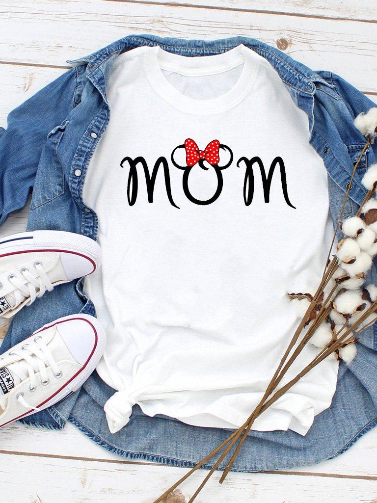 T-shirt biały Mom Minnie Love&Live
