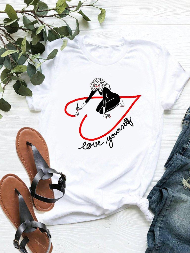 T-shirt biały Yourself ZUZU