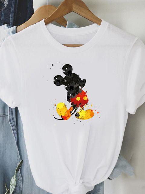 T-shirt biały Akwarelowy Mickey Love&Live