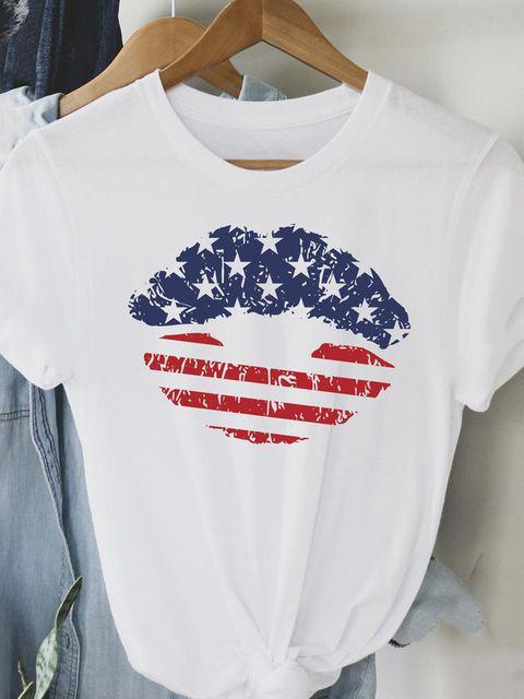 T-shirt biały Amerykański pocałunek Love&Live