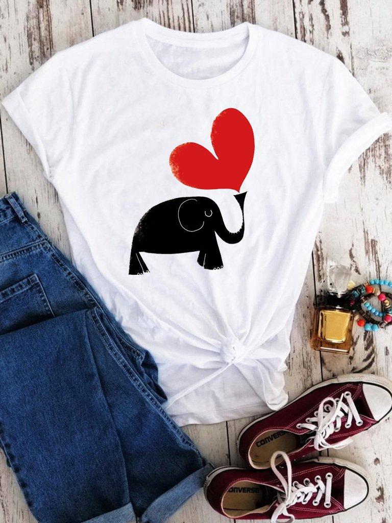 T-shirt biały Zakochany słoń Love&Live