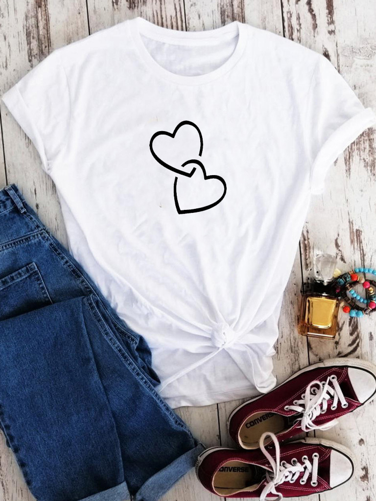 T-shirt biały In a love coupling Love&Live