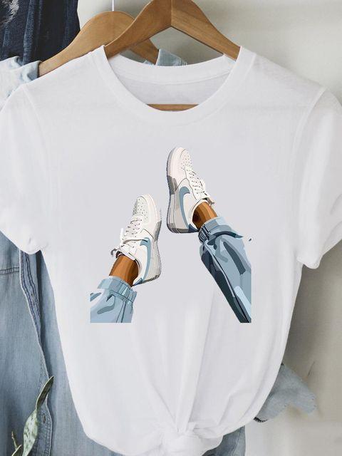 T-shirt biały Trampki Love&Live