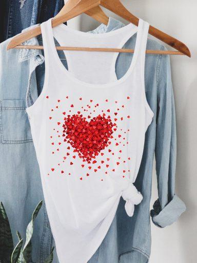 Biała koszulka na ramiączkach Części Miłości Love&Live