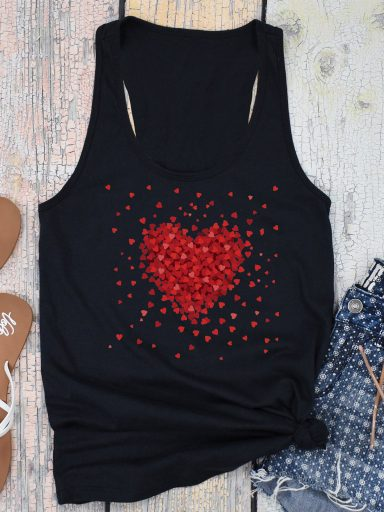 Czarna koszulka na ramiączkach Części miłości Love&Live