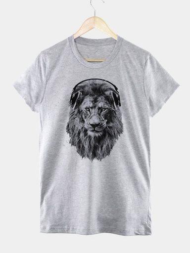 T-shirt męski szary LEW MELOMAN Love&Live