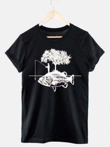 T-shirt męski czarny Wędkarstwo Love&Live