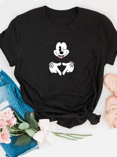 T-shirt czarny Mickey Love&Live