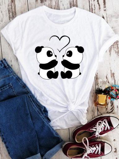 T-shirt biały Cute padnas Love&Live