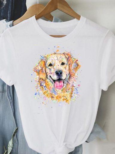 T-shirt biały Retriever Love&Live