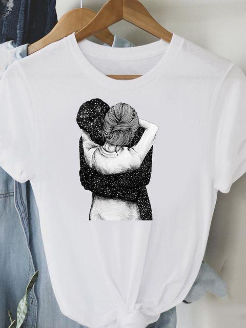 T-shirt biały Jesteś moją przestrzenią Love&Live