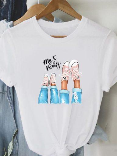 T-shirt biały My baby Love&Live