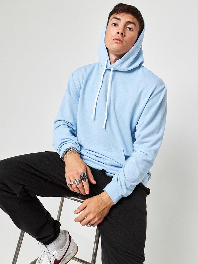 Bluza męska niebieska z imitacją T-shirt Katarina Ivanenko