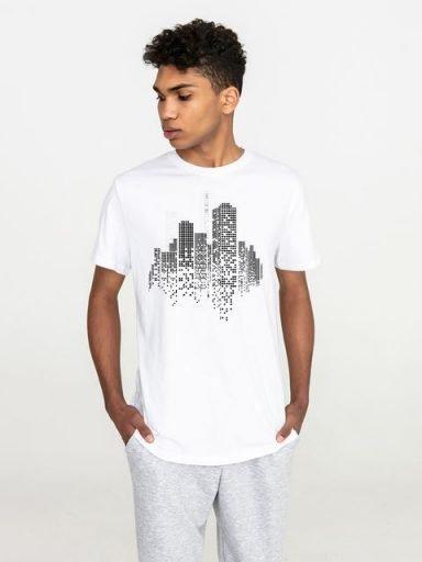 T-shirt męski biały Big city Love&Live