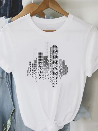 T-shirt biały Big city Love&Live