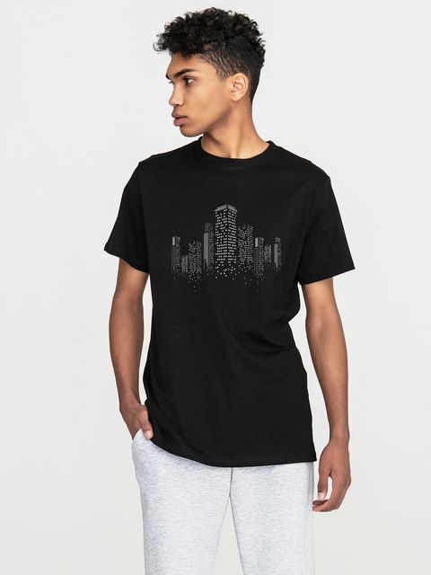 T-shirt męski czarny Big city Love&Live