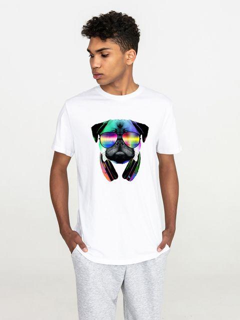 T-shirt męski biały Cool mops Love&Live