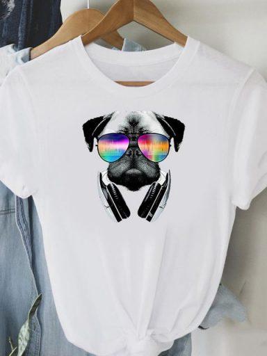 T-shirt biały Cool mops Love&Live