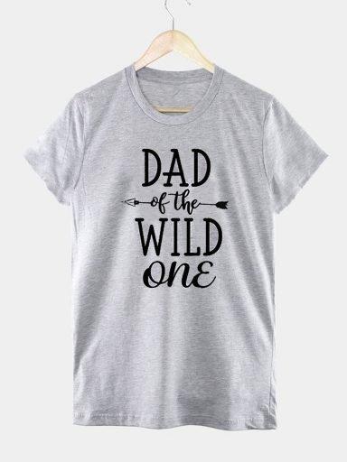 T-shirt męski szary DAD OF THE WILD ONE Love&Live