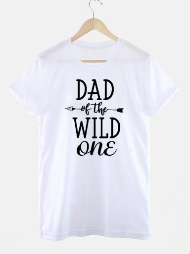 T-shirt biały DAD OF THE WILD ONE Love&Live