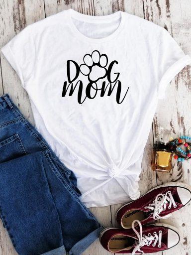 T-shirt biały Dog mom Love&Live