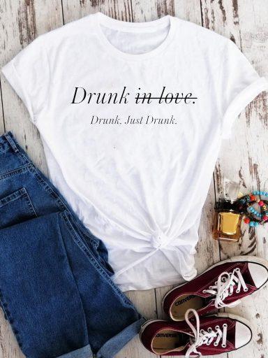 T-shirt biały Just drunk Love&Live