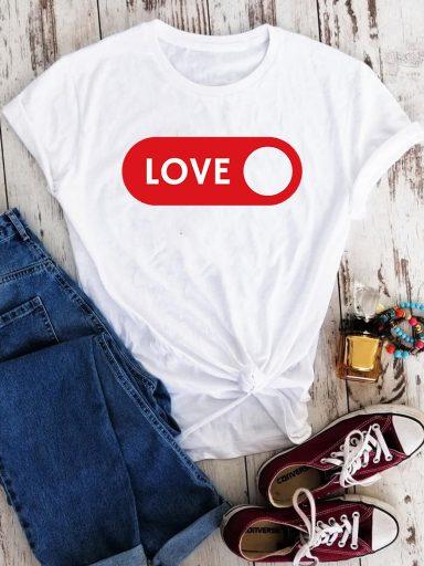 T-shirt biały Love on Love&Live