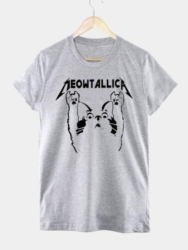 T-shirt męski szary MEOWTALLICA Love&Live