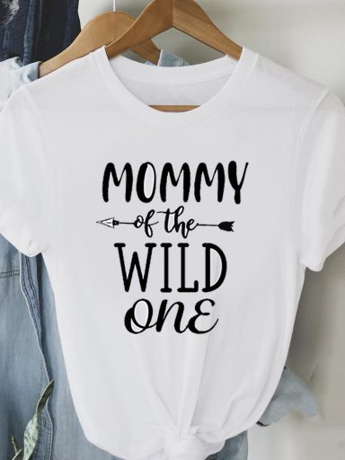 T-shirt biały MOMMY OF THE WILD Love&Live