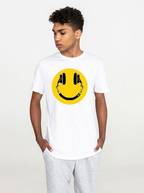 T-shirt męski biały Smile music Love&Live